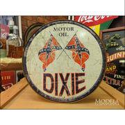 アメリカンブリキ看板 Dixie Gas - ラウンド