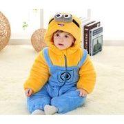 ミニオン 赤ちゃん用ロンパースベビー服 厚手きぐるみ子供 コスプレ衣装