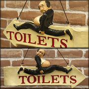 ���yAntique ITEM�z���Ƃ��Ă��������� ���� �g�C���b�g�T�C���v���b�P ���� TOILET SIGN��