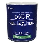 good-j(グット-ジェイ) GRS16X100PW (DVD-R 16倍速100枚)