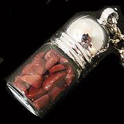 天然石チップ お守り瓶キーホルダー レッドジャスパー(Red Jasper)