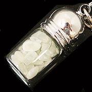 天然石チップ お守り瓶キーホルダー ニュージェード(New Jade)