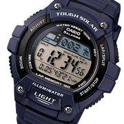カシオ CASIO スポーツ ソーラー メンズ 腕時計 W-S220-2A ネイビー