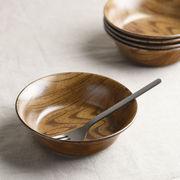 ウッドスタイル マット 15cmサラダボウル/軽量陶器[美濃焼]
