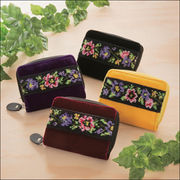仕分け上手なシェニール織り財布 シルキーレッド/シルキーパープル/シルキーブラック/シルキーイエロー