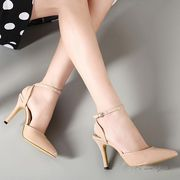 【即納】 アンクルベルトパンプス全2色◆t-hdb1-698-8【自社工場】美脚/靴