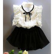 ★夏新しいスタイル★キッズ半袖Tシャツ+スカート