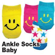 【靴下 4種】アンクルソックス ベビー 4種 靴下 ソックス スター スマイル スター アメカジ
