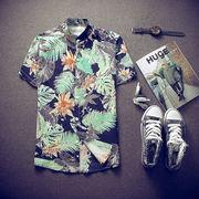 アロハシャツ メンズ ボタニカル 花柄 2色 大きいサイズ M-3XL 100823