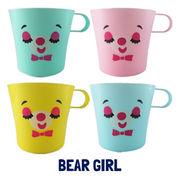 OK:ベアガールカラフルマグカップ【4色アソートセット】