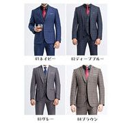 3ピース/スリムスーツ/メンズ ビジネス スリーピース/ビジネス/2ツボタン/パーティー 結婚式/紳士服