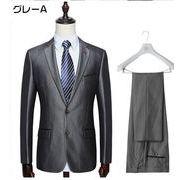 メンズ 2ツボタン スリムスーツ/ビジネス/パーティー 紳士服披露宴結婚式紳士服 suit