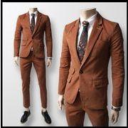 スーツ(上下セット)♪レッド/ネイビー/ブラウン3色展開◆【新作】
