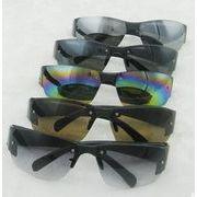 ★夏新品★透明反射ミラーサングラス/眼鏡★ファッションUV対策サングラス★メンズ オートバイく眼鏡
