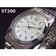 STELITEメンズ腕時計 メタルウォッチ 日本製高性能省電力ムーブメント 電池寿命4年以上 10気圧防水