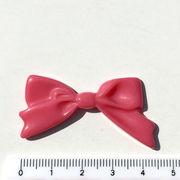 【デコパーツ】パステルカラー・横長リボン型パーツ(約4.5cm)