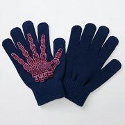 スマホ手袋【エレコムP-GV26BU】フリーサイズ・タッチパネル対応