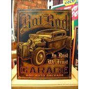 アメリカンブリキ看板 Rat Rod Garage