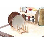 【直送可】【送料無料】【キッチン】木製ディッシュスタンド ボヌール