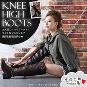 【即納】ニーハイジョッキーロングブーツ全2色★al-1436【自社工場】靴/美脚/レディース