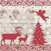 Paw Decor Collection ペーパーナプキン クリスマス トナカイ ツリー 天使