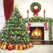 Paw Decor Collection ペーパーナプキン クリスマス ツリー 暖炉