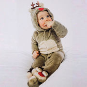 新型★ベビー赤ちゃん 新生児連体服★鹿 カバーオール