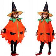 ハロウィン衣装 子供ハロウィン かぼちゃ風 マント 服 子供用 かぼちゃ風衣装 衣装 子供