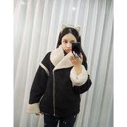 【ニュースタイル !!】★秋冬新型は、★韓版女性レジャー★レジャー★子羊のウール★コート