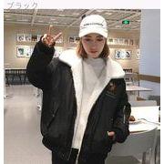 冬バージョン★韓国★カレッジ風★2way★子羊ウール★ジャケット★手厚い★暖かい★コット