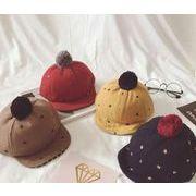 ★韓国スタイル★キッズファション帽子★ベビー帽子★ファー付キャップ