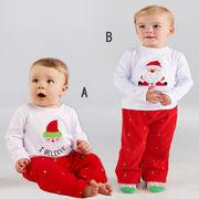 激安!80-90-100-110-120セット★ベビー★サンタ★クリスマスツリー★Tシャツ+ズボン