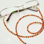 ガーネット×カーネリアン メガネチェーン 眼鏡チェーン グラスコード