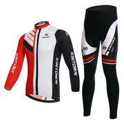 サイクルジャージ 上下セット 長袖 メンズ サイクルウェア 秋冬用 サイクリングウェア 裏起毛 ビブ選択可