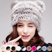 ■ポリューム感ねこみみ付きファー帽子 :全10色_H01B8989