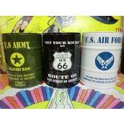 ドラム缶灰皿 【 ARMY / ROUTE66 / USAF 】