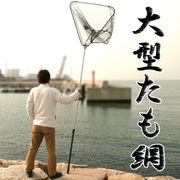 本格漁業から趣味のフィッシングまで 伸縮自在で様々なシーンに対応可能 ◇ 大型たも網