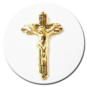 十字架 クロス 5個入り ゴールド メタルパーツ