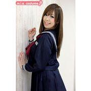 ■送料無料■長袖セーラー服セット サイズ:M/BIG 色:紺 ■冬服セーラー■