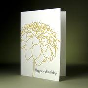 oblation papers&press 活版印刷カード botanical notes バースデー