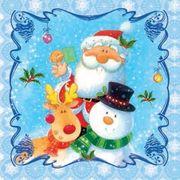 Daisy  ペーパーナプキン クリスマス サンタ・スノーマン・トナカイ