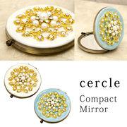 ★【Cercle Compact Mirror】★オシャレなミラー ♪ セルクル コンパクトミラー レース♪