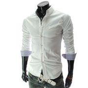 処分品 現品 カジュアルシャツ メンズ 長袖 大きいサイズ ライン ワイシャツ フォーマル ビジネス きれい目