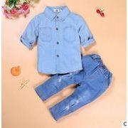 ★春新しいセットアップ★キッズファッション★シャツ+パンツ2点セット