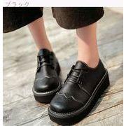 原宿★小さな靴★女★イングランド★カレッジ風★アンティーク調★厚底★靴★日系★ミドルヒー
