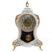 オリヴィエ 置き時計 -ホワイト
