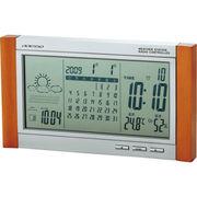 【代引不可】 カレンダー電波時計(天気予報機能付)