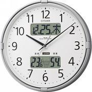 【代引不可】CITIZEN シチズン 温湿度計付電波掛時計