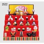 ★ひな祭りを飾る★ 陶製の雛人形 【錦彩 花かざり雛(5段飾り・7段飾り)】