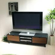 【完売・次回未定】テレビ台 ローボード 150cm幅 テレビボード 木製 ブラック&ブラウン  SCAN-TV150BK-BR